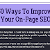 50 Ways To Improve On-Page SEO #infographic