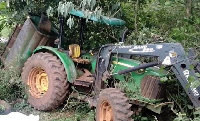 Fatalidade: Agricultor morre esmagado por trator em área rural