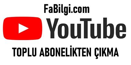 Youtube Tüm Aboneliklerden Aynı Anda Çıkma Kaldırma 2020