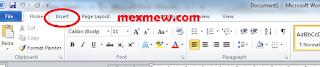menu insert microsoft word