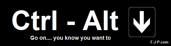 Funny Ctrl Alt Down Arrow Joke Picture - Go ... you know you want to
