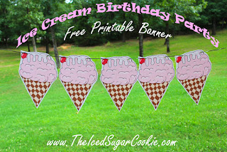 Free Ice Cream Birthday Party Printables The Iced Sugar Cookie