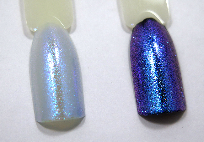 China Glaze Let Your Twilight Sparkle over black and white