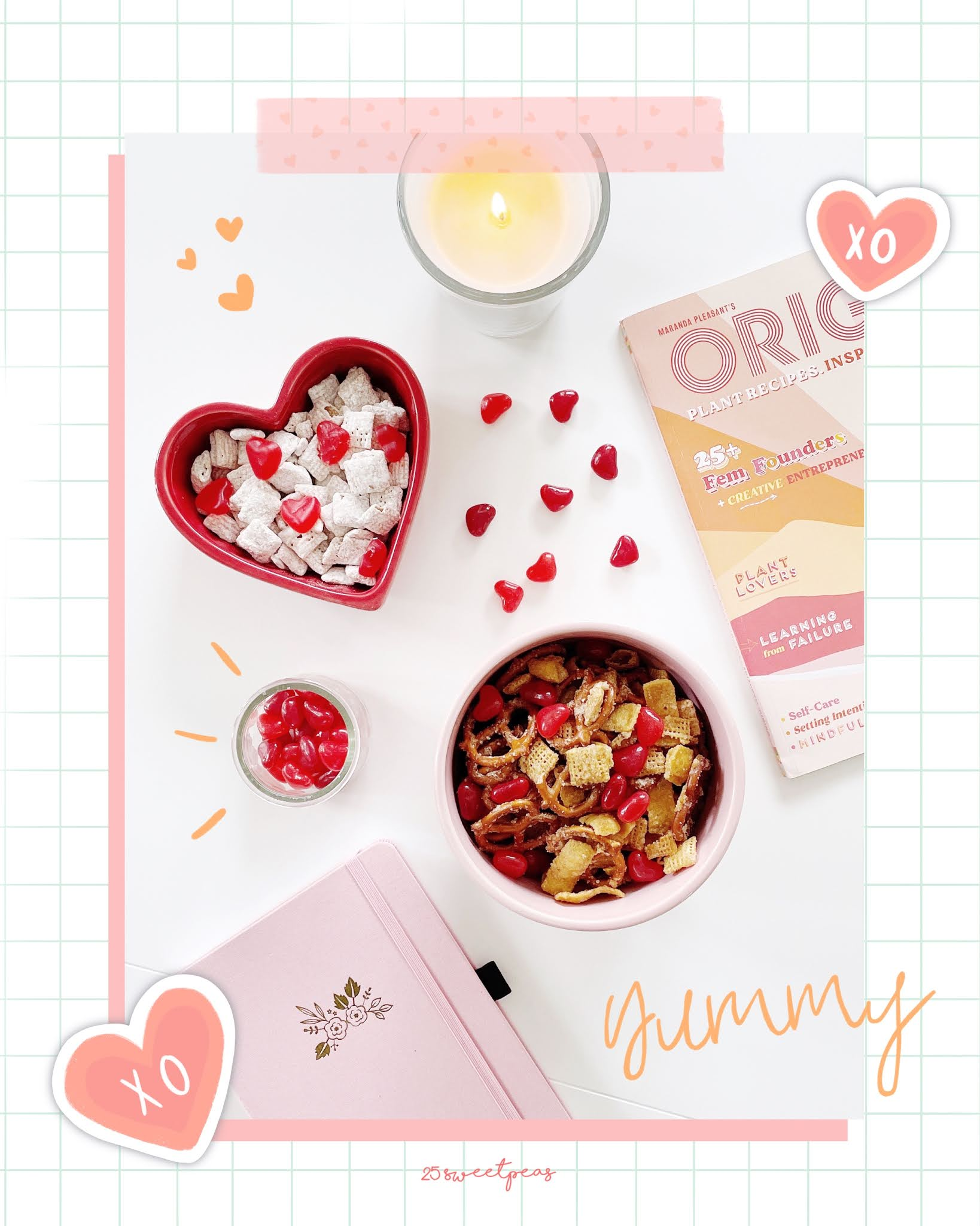 Snack Mixes For Valentines Day- 25 Sweetpeas