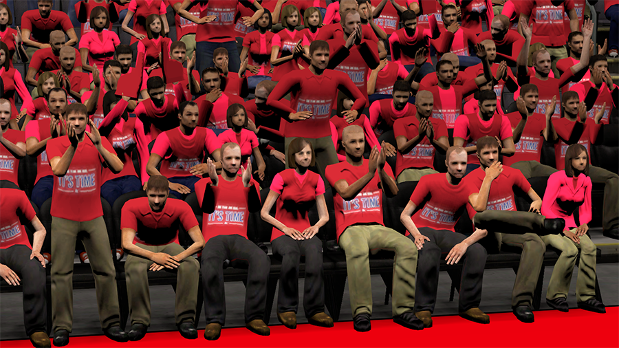 One Team. One Goal. It's Time Crowd in NBA 2K14
