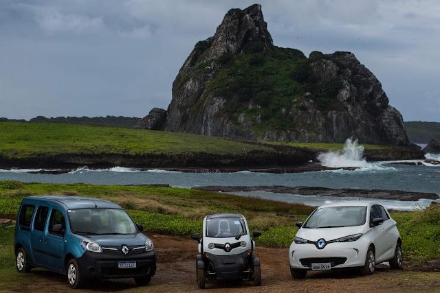 Renault elétricos chegam a Fernando de Noronha
