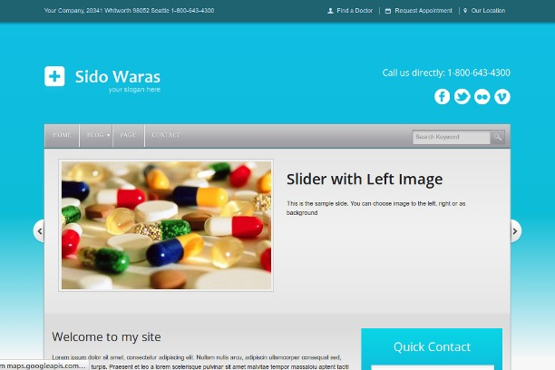 medicine-wordpress-template