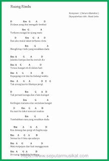 chord lagu ruang rindu band letto
