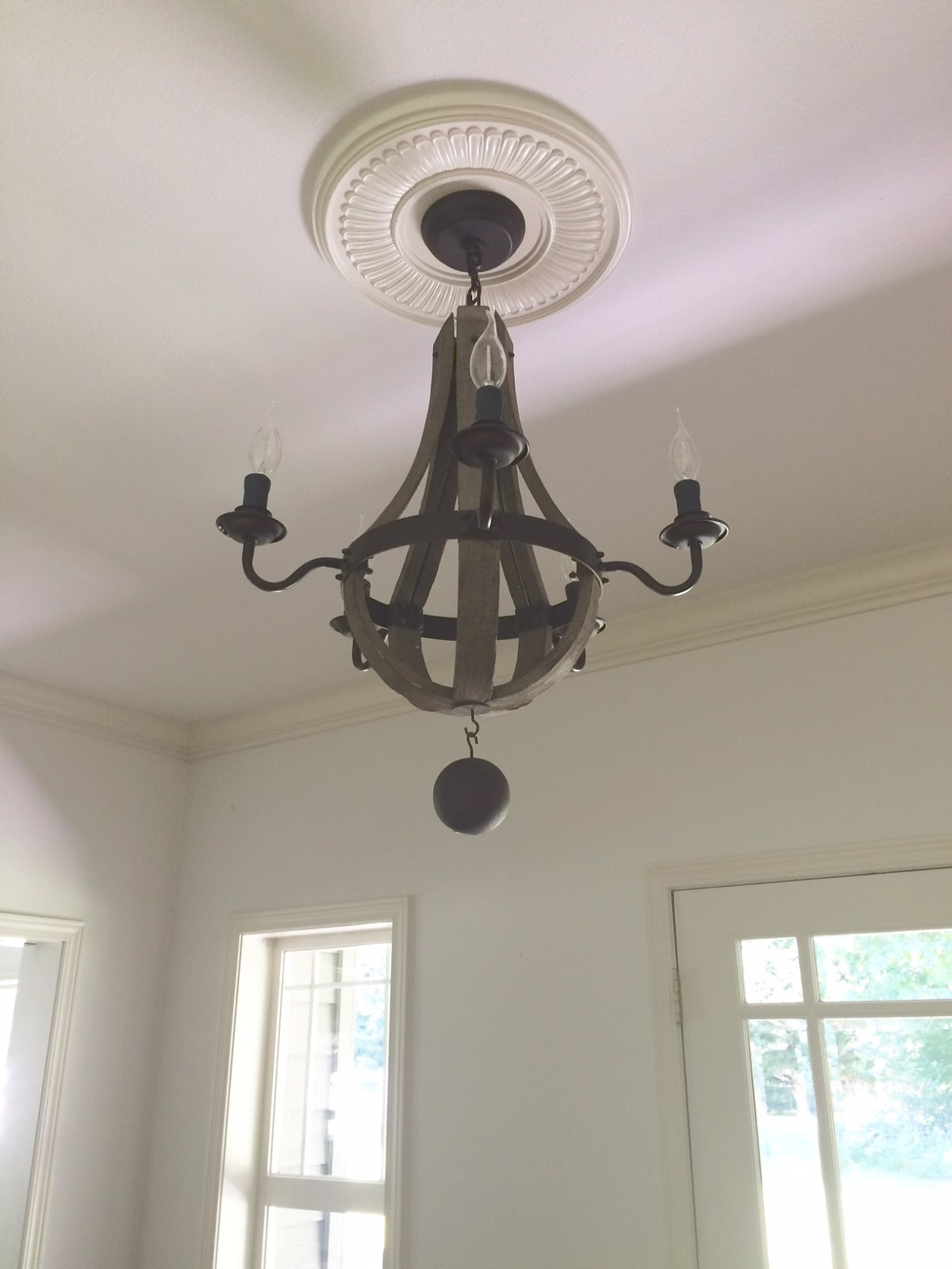 A Farmhouse Entryway Chandelier