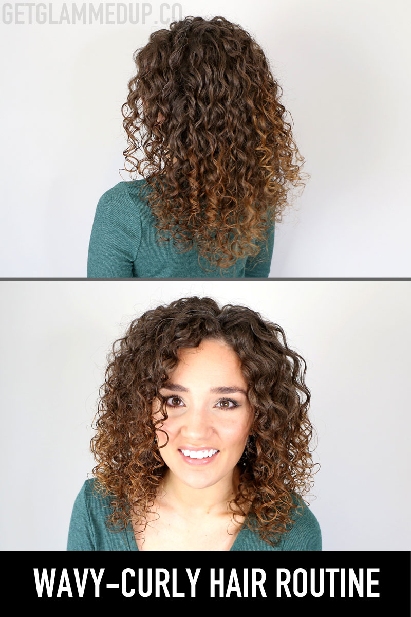 Wavy-Curly Hair Routine