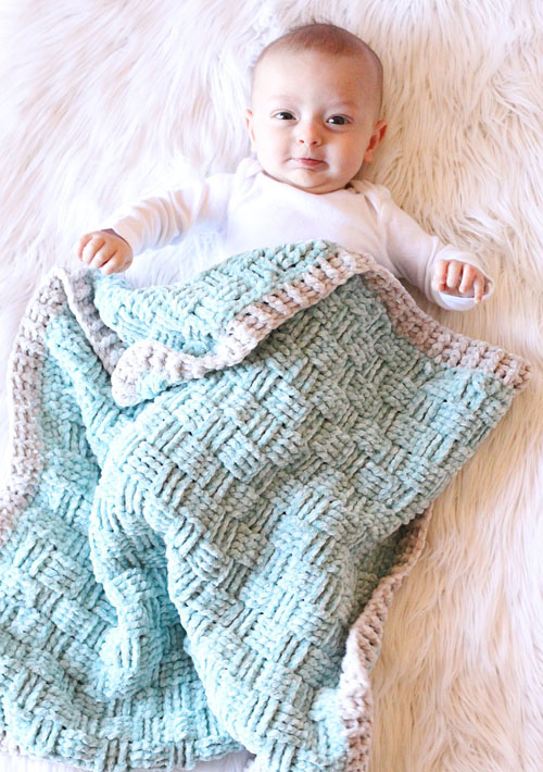 Basketweave Baby Blanket - Free Crochet Pattern