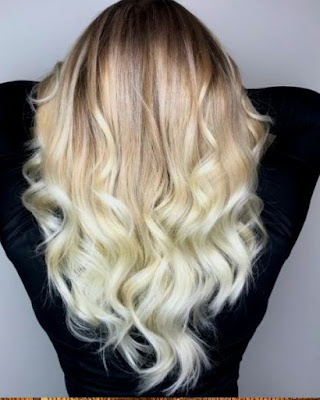 Black with blonde layered Hairstyle  - 20 Best Medium Layered Haircut - For Women Of All Ages