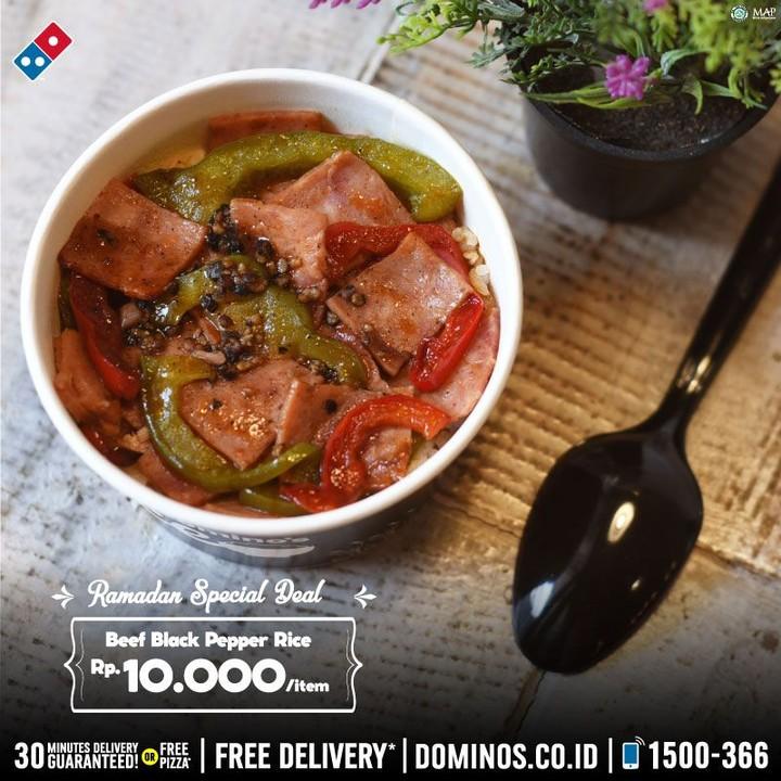 Domino's Pizza Promo Menu Beef Black Pepper Rice Hanya Rp 10.000
