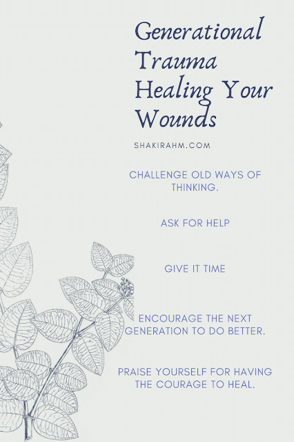 Info graph about what healing generational trauma wounds.