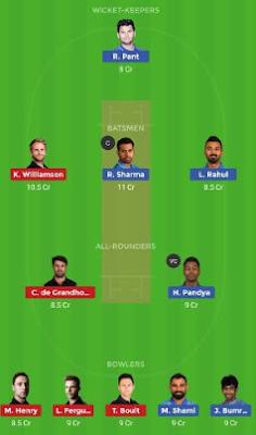 IND vs NZ dream 11 team | NZ vs IND