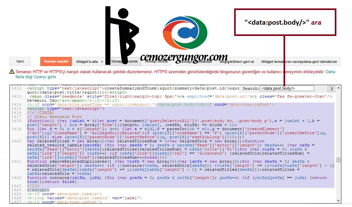 blogger posd.body kodları