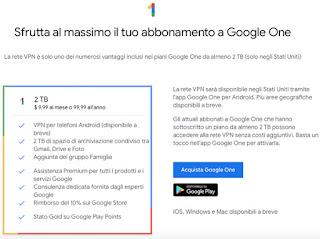 Piani di abbonamento Google One