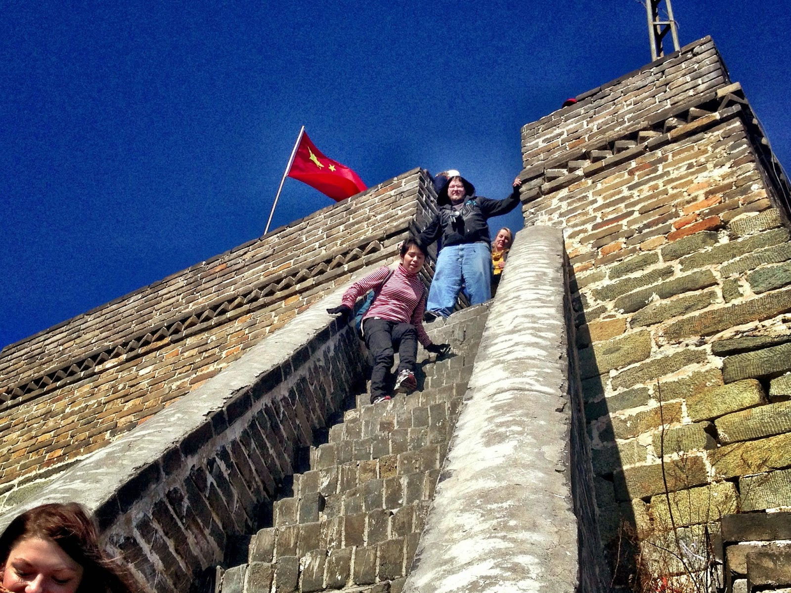 Steep steps on the Great Wall Of China