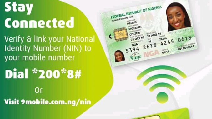 How To Link NIMC To Your 9mobile Sim Card