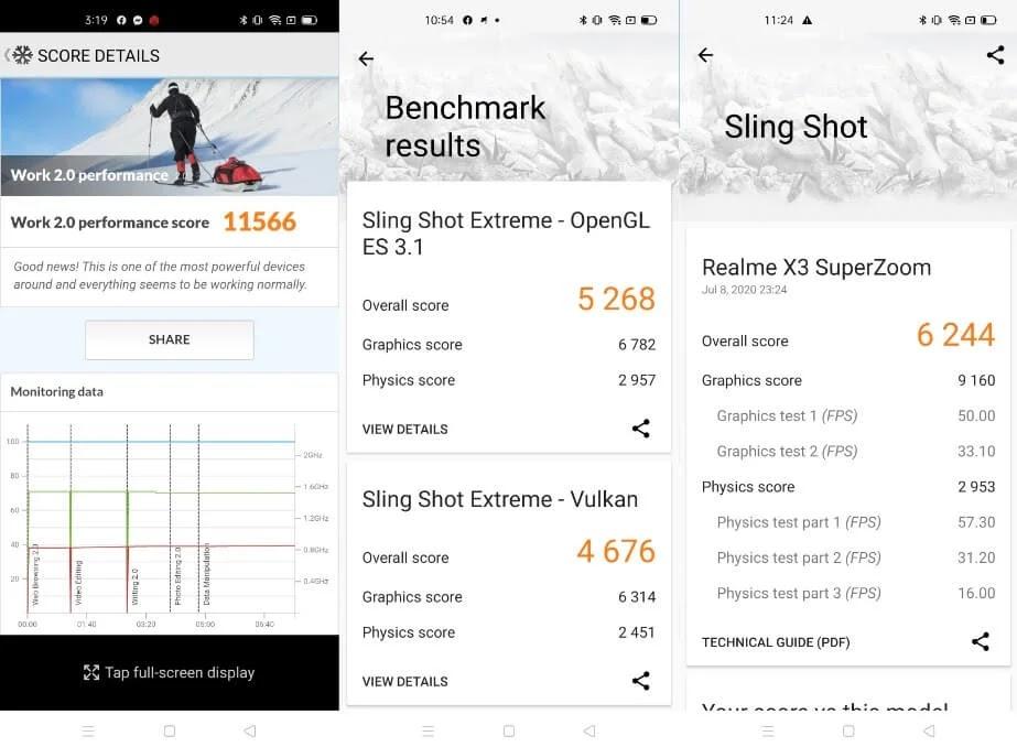 realme X3 SuperZoom Benchmark Results