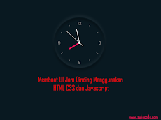 Membuat UI Jam Analog Menggunakan HTML CSS dan Javascript