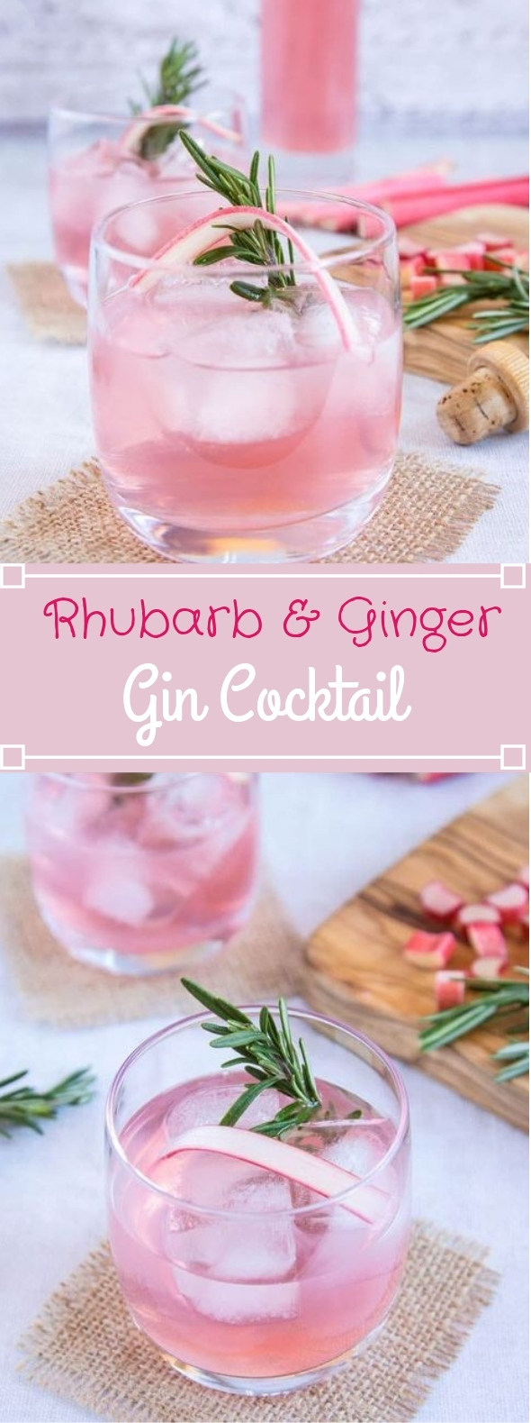 Rhubarb and Ginger Gin #drinks #cocktails