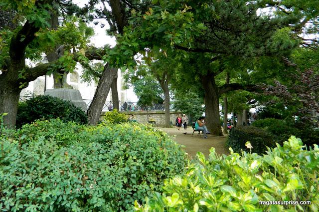 Jardim da Basílica de Sacre Coeur, Montmartre, Paris