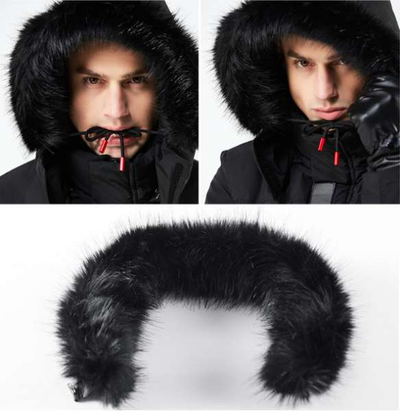 Sports Coat Men Winter Jacket Long Fur Collar Hooded Parka Thick Warm