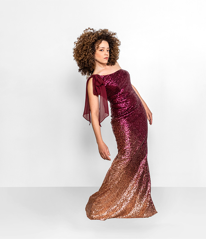 Mermaid sequin gown refashion with Marcy Harriell oonaballoona on Bluprint