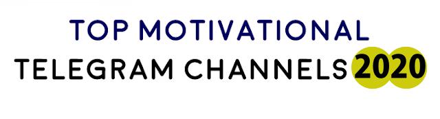 Best Motivational Telegram Channels 2020