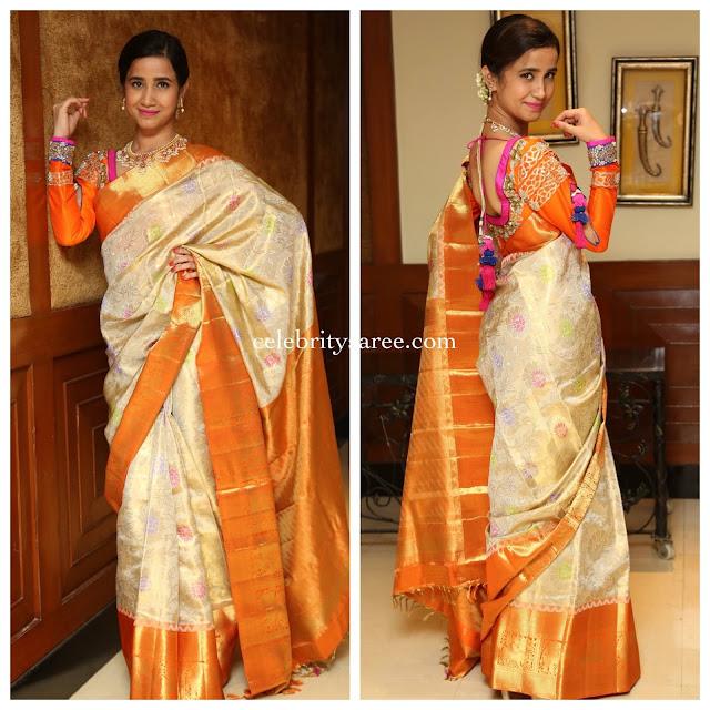 Namratha Sharma Silk Saree