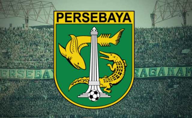 "pendukung fanatik dari persebaya ""bonek"" dan logo Persebaya Surabaya"