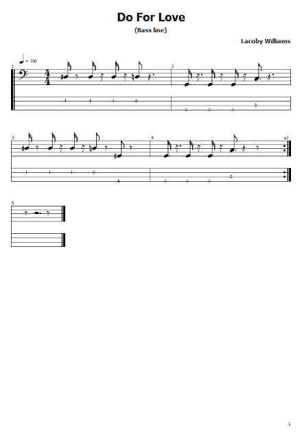 2Pac - Do For Love (Guitar Tabs & Sheet Music)