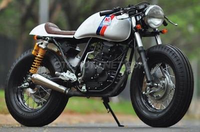 Modifikasi Cafe Racer Motor Yamaha Vixion