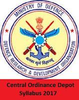 Central Ordinance Depot Syllabus