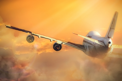 """Airplane In The Sky"" by coward_lion - www.freedigitalphotos.net"