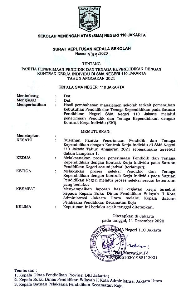 Pembentukan Panitia Rekrutmen KKI 2021