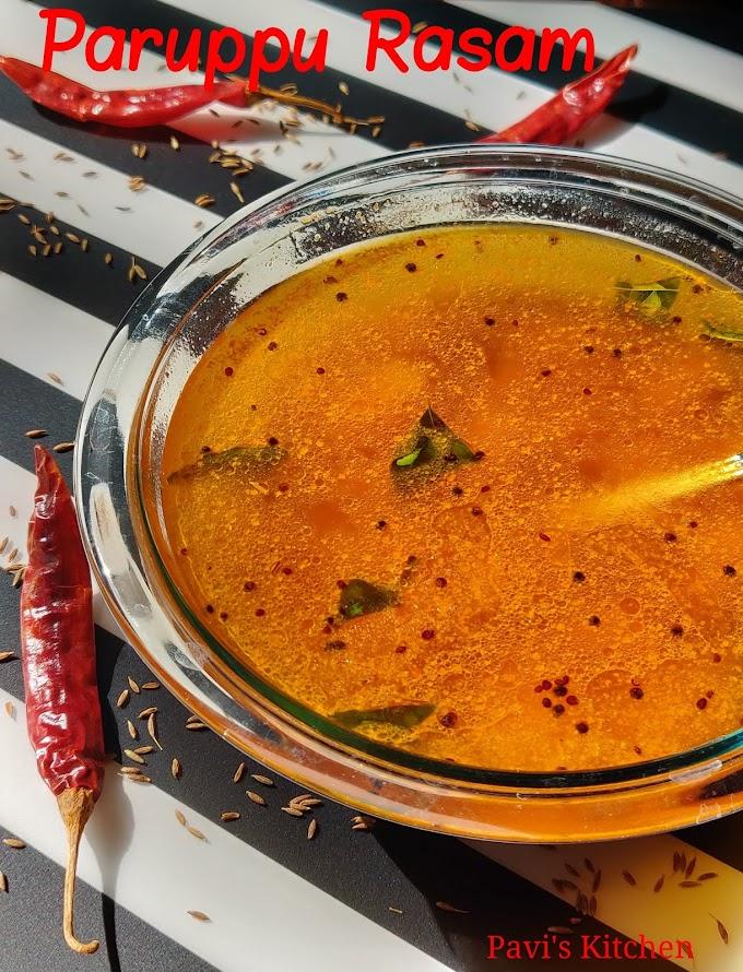 paruppu rasam recipe | dal rasam recipe | toor dal rasam | how to prepare rasam