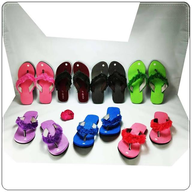 grosirsandalmurah.org - sandal Wanita - Sandal Lisban Bulu GSJ