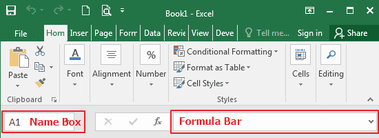 Formula Bar In Microsoft Excel