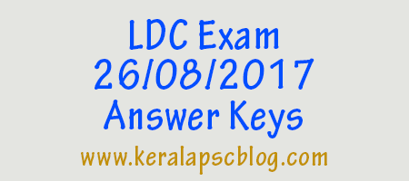 Lower Division Clerk [LDC] Exam 26-08-2017 Answer Keys