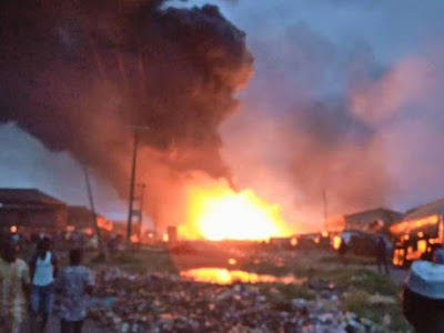 Fire Burnt Down 15 Shops in Edo State