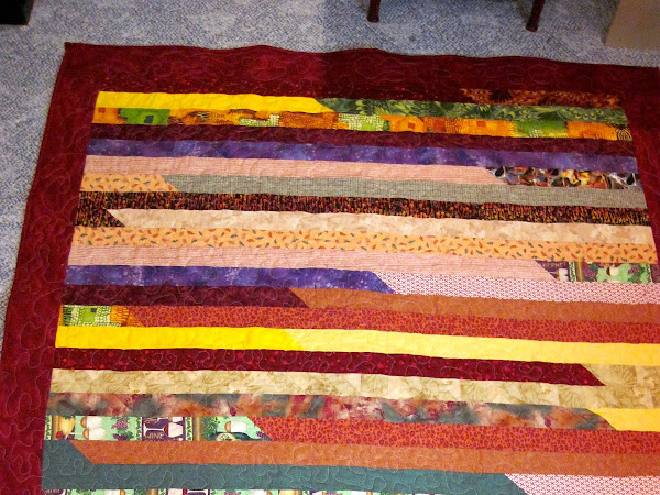 Finished Jelly Roll 1600 Race Quilt