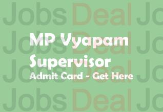 MP Vyapam Supervisor Admit Card 2017