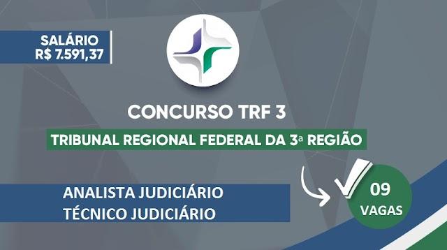 Edital do TRF-3: concurso oferece 9 vagas de analista e técnico; com salários até R$ 12 mil