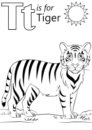 Tt For Tiger Coloring Pages With Name Images