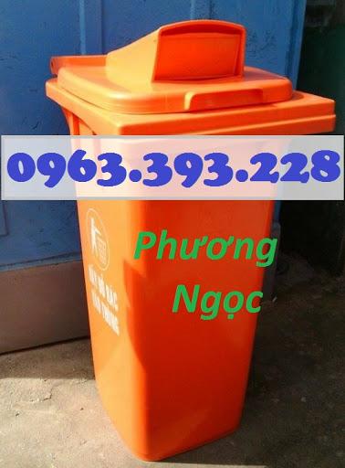 Thùng rác nhựa 120 Lít nắp hở, thùng rác công cộng, thùng rác nắp hở nhựa HDPE TRNH120L3