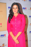 Sree Mukhi in Pink Kurti looks beautiful at Meet and Greet Session at Max Store (52).JPG