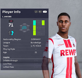 PES 2021 Faces Ismail Jakobs