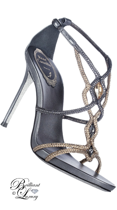Brilliant Luxury ♦ Rene Caovilla bejeweled high heels